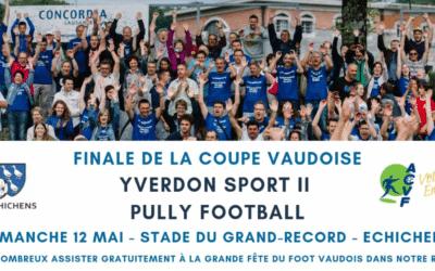 Tous à Echichens pour la finale de Coupe Vaudoise ce dimanche !